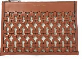 Ralph Lauren Chain-Link Leather Pouch