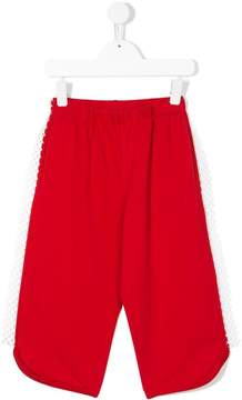 No.21 Kids netted detail track pants