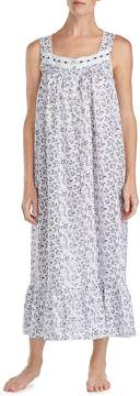 Eileen West Floral-Print Lawn Ballet Nightgown