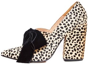 Ulla Johnson Louis Heel in Animal Ponyhair