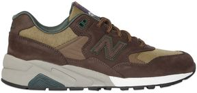 New Balance 580 Revlite Nubuck & Canvas Sneakers