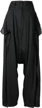 Barbara I Gongini high-waisted flared trousers