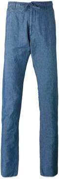 Lardini drawstring denim trousers