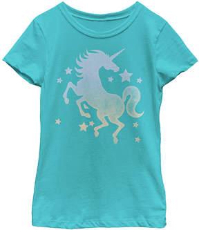Fifth Sun Blue Shimmer Unicorn Tee - Girls