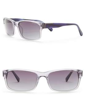 GUESS 58mm Rectangle Sunglasses