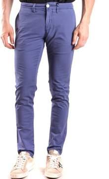 Siviglia Men's Blue Cotton Pants.