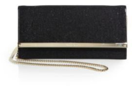 Jimmy Choo Milla Chain-Strap Glittered Clutch