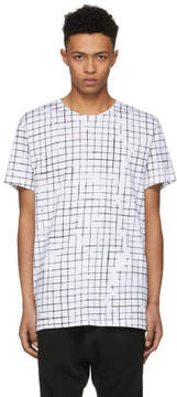 Haider Ackermann Ivory and Black Check Perfusion T-Shirt