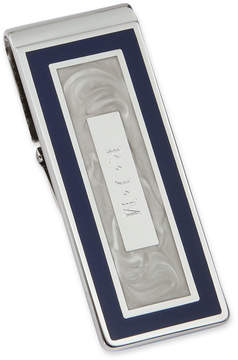 Asstd National Brand Personalized Blue and Pearl-White Hinged Money Clip