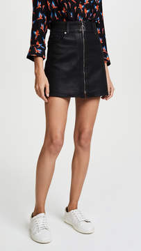7 For All Mankind Zip Front Miniskirt
