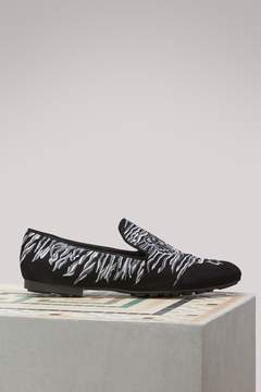 Kenzo Tiger leather loafers