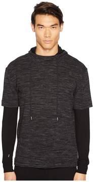 ATM Anthony Thomas Melillo Mixed Media Double Sleeve Hoodie Men's Sweatshirt