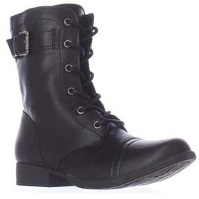 American Rag Ar35 Faylln Lace Up Combat Boots, Black.