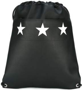 Givenchy star print drawstring backpack