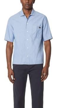 MAISON KITSUNÉ Chambray Short Sleeve Shirt