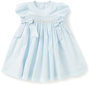 Edgehill Collection Little Girls 2T-4T Floral Embroidered Bow Dress
