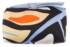 Emilio Pucci Bow-Accented Printed Clutch