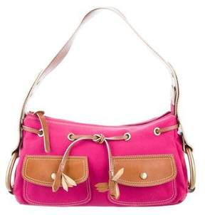 Hogan Leather & Canvas Shoulder Bag