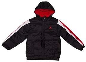 Nike Jordan Boys Puffer Bubble Jacket Black/Red (Size Medium)