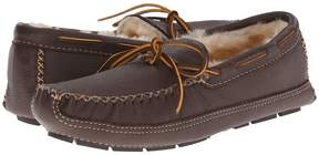 Minnetonka Sheepskin Lined Moose Slipper Men's Moccasin Shoes