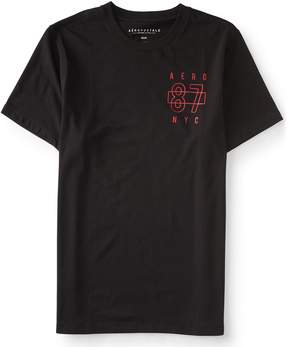 Aeropostale Aero 87 NYC Logo Solid Stretch Graphic Tee