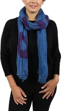 Moschino Scr11235/7 Blue Signature Scarf.