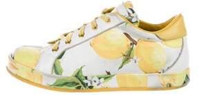 Dolce & Gabbana Girls' Spring 2016 Lemon Print Sneakers