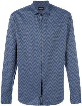 Giorgio Armani chevron print shirt