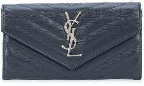 Saint Laurent Monogram zip around wallet - BLACK - STYLE