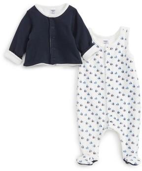 Petit Bateau Infant Boy's Footie & Jacket Set