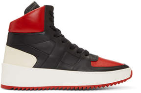 Fear Of God Red and Black B-Ball High-Top Sneakers