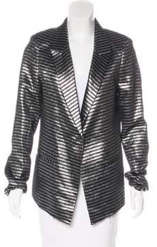 RtA Denim Striped Metallic Blazer w/ Tags