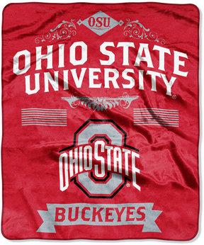 Northwest Company Ohio State Buckeyes Raschel Rebel Throw Blanket