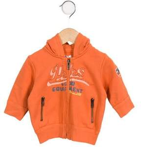 Ikks Boys' Hooded Zip Front Jacket