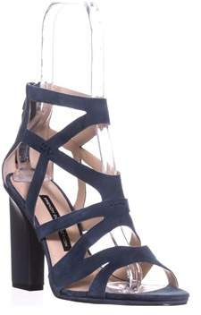 French Connection Isla Strappy Heel Sandals, Navy Suede.