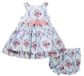 Laura Ashley Blue Cotton Print Dress (Baby Girls 12-24M)