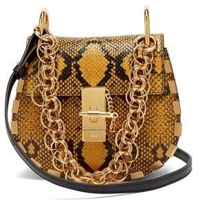 Chloé Drew Bijou Mini Leather Cross Body Bag - Womens - Yellow Multi