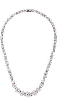 White Between Us Diamond Riviere Necklace