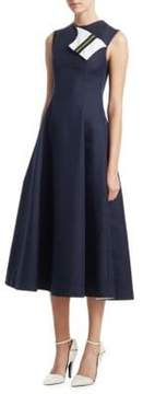 Calvin Klein Silk-Blend Flare Dress