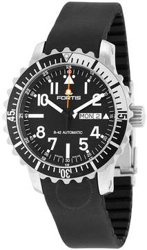 Fortis Aquatis Marinemaster Automatic Black Dial Black Rubber Men's Watch