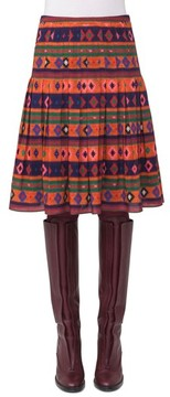 Akris Punto Women's Print Wool Bell Skirt