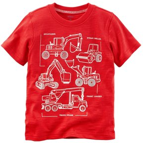 Carter's Baby Boy Construction Trucks Graphic Tee