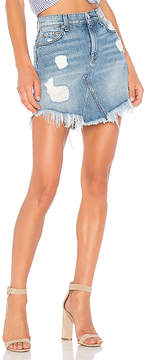 7 For All Mankind Mini Skirt with Frayed Hem.