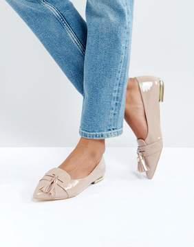 Miss KG Nikki Patent Tassel Ballet Flats
