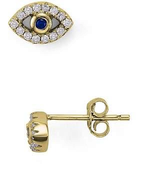 Aqua Sterling Silver Evil Eye Stud Earrings - 100% Exclusive