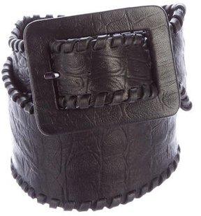 Thomas Wylde Embossed Leather Waist Belt