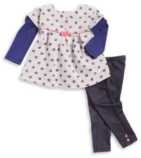 Absorba Baby Girl's Two-Piece Polka-Dot Shirt and Pants Set