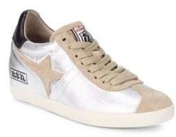 Ash Guepard Metallic Leather Star Sneakers