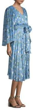 Alice + Olivia Halsey Waist Sash Floral Dress