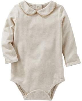 Osh Kosh Baby Girl Peter Pan Collar Jersey Bodysuit